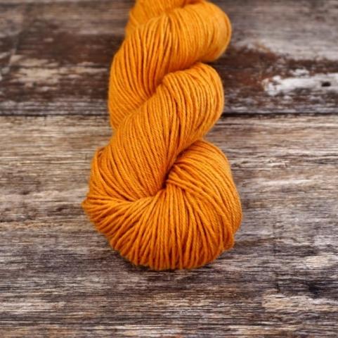 Socks Yeah in Citrine, a bright yellow orange