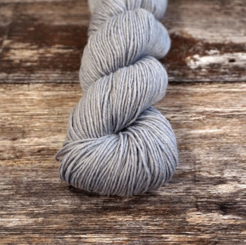 Socks Yeah in Chalcedony, a light grey with blue-ish undertone