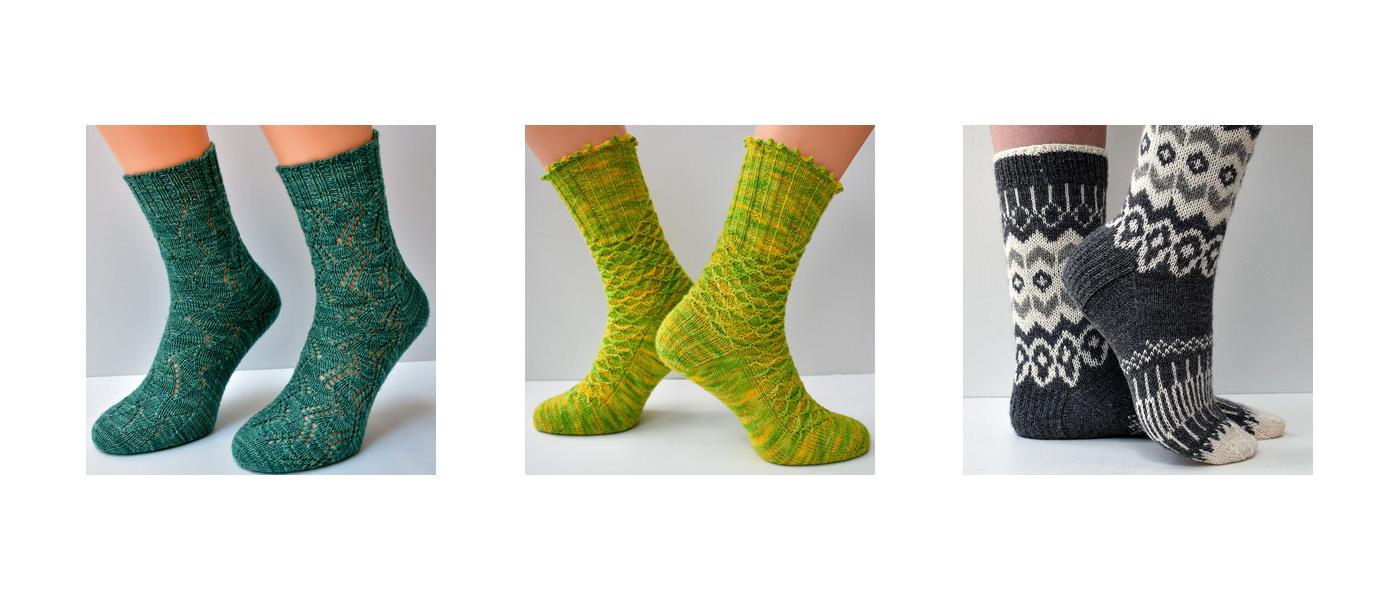 Dots Dabbles' sock knitting patterns