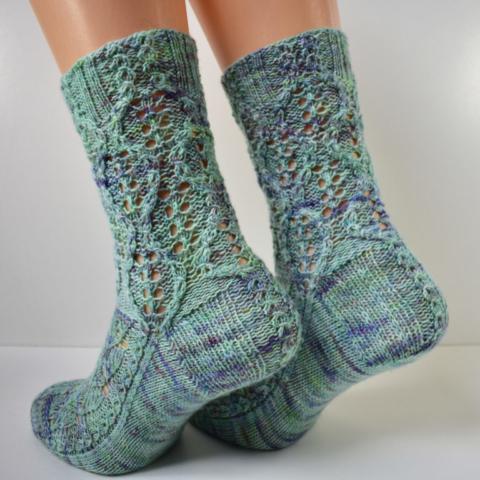 Treeship socks by Dots Dabbles