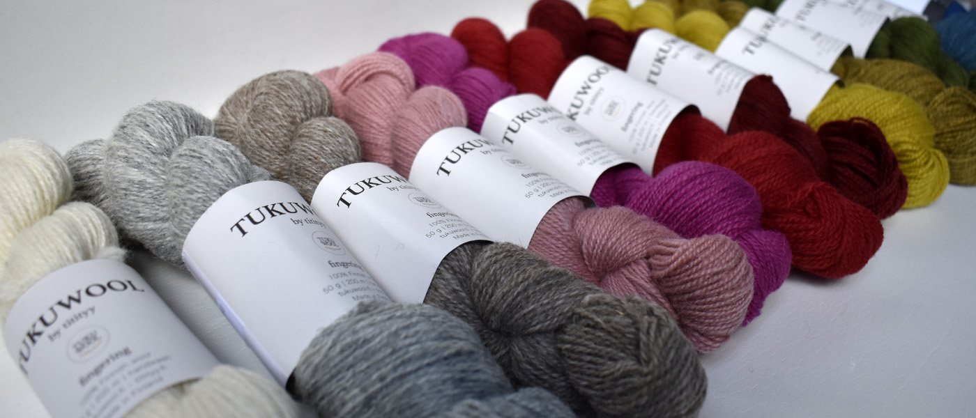 Tukuwool Fingering in 12 fantastic colours