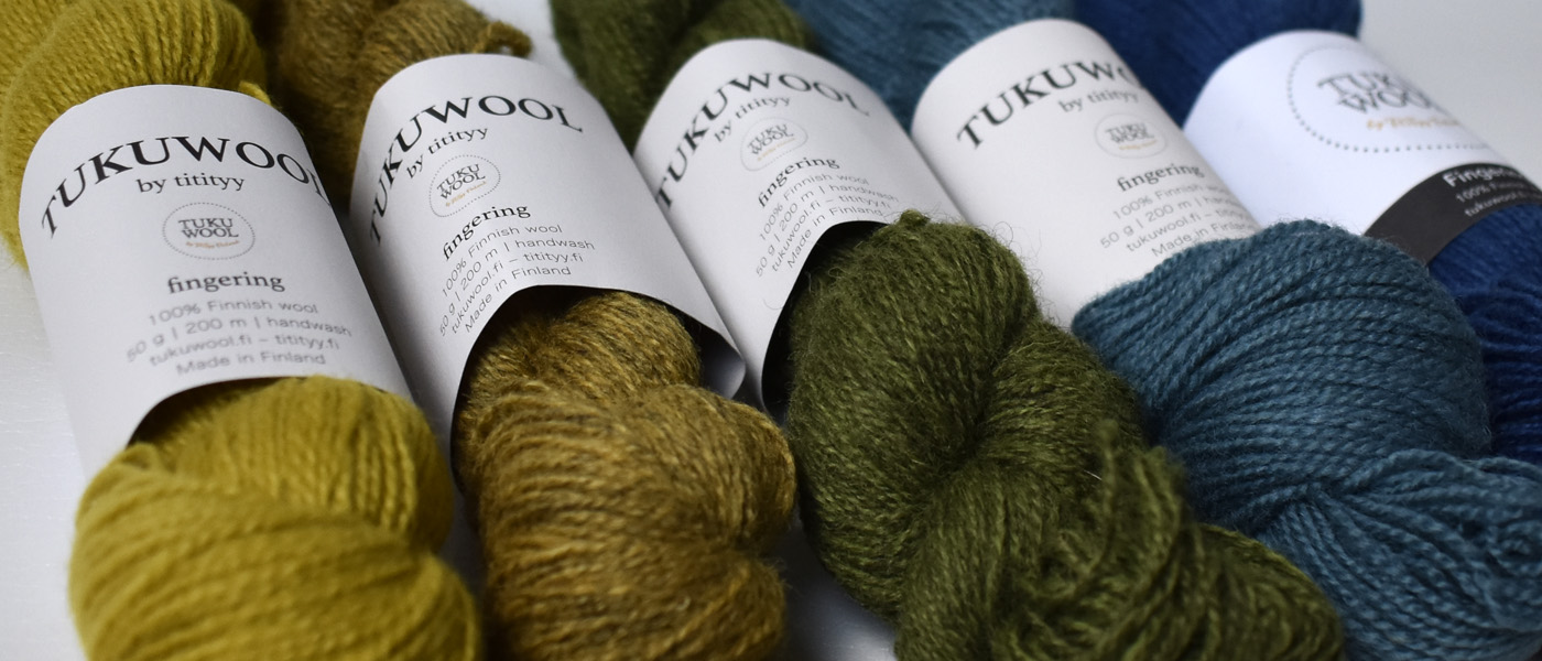 Tukuwool Fingering in 5 amazing colours