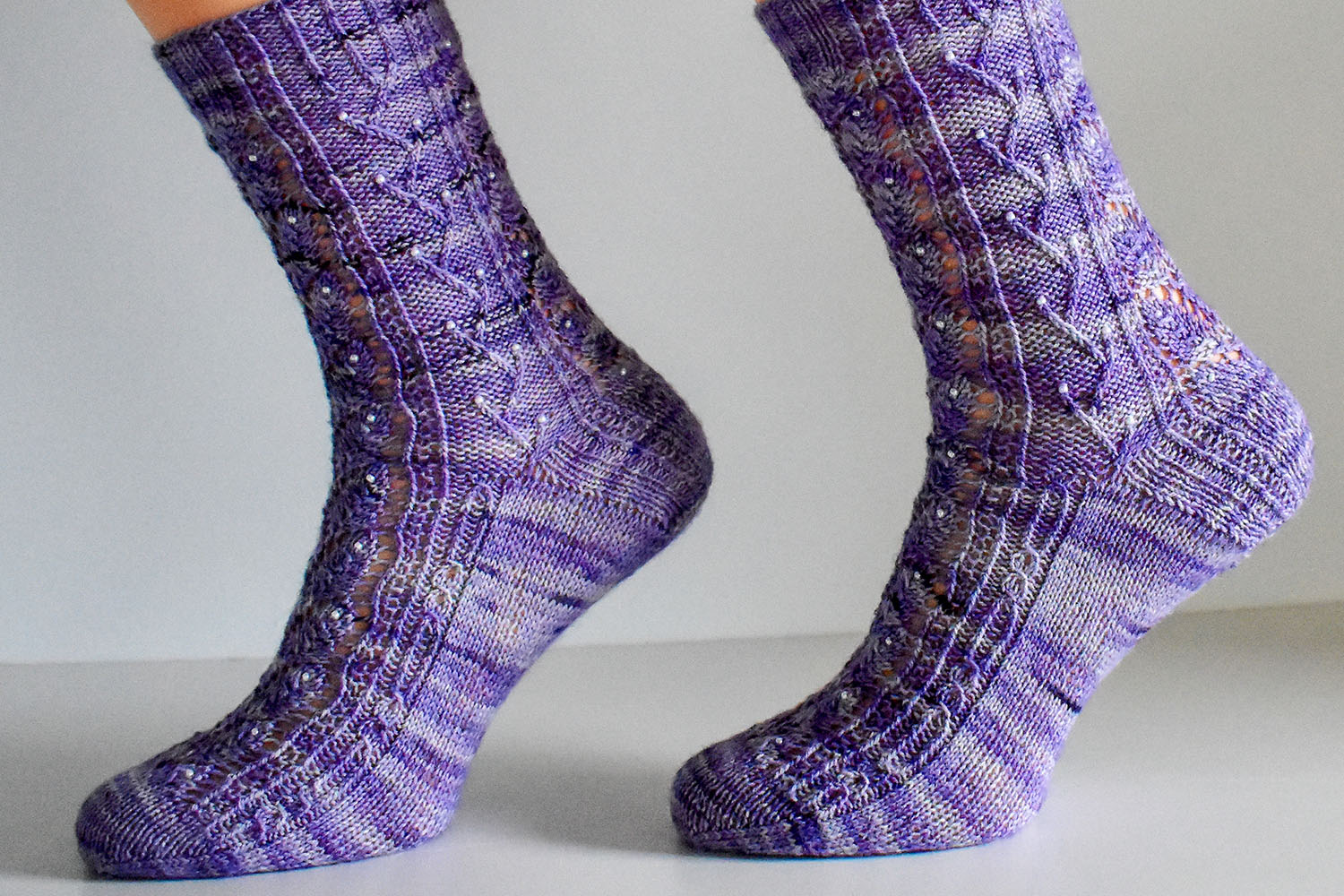 Elvenpath sock pattern by Dots Dabbles