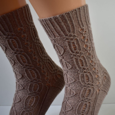 Lady Patience socks by Dots Dabbles