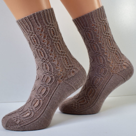 Lady Patience socks by Dots Dabbles in CoopKnits Socks Yeah!